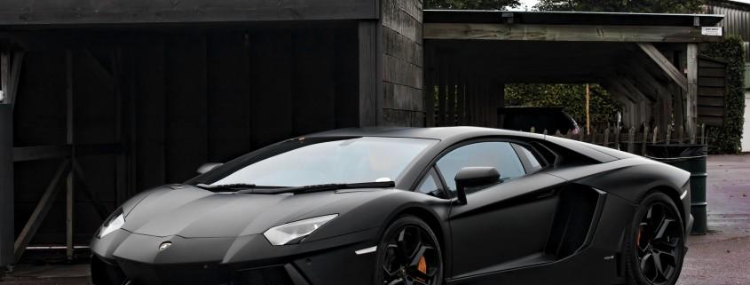 Lamborghini Aventador Matt Black