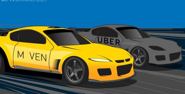Uber and Maven Taxis