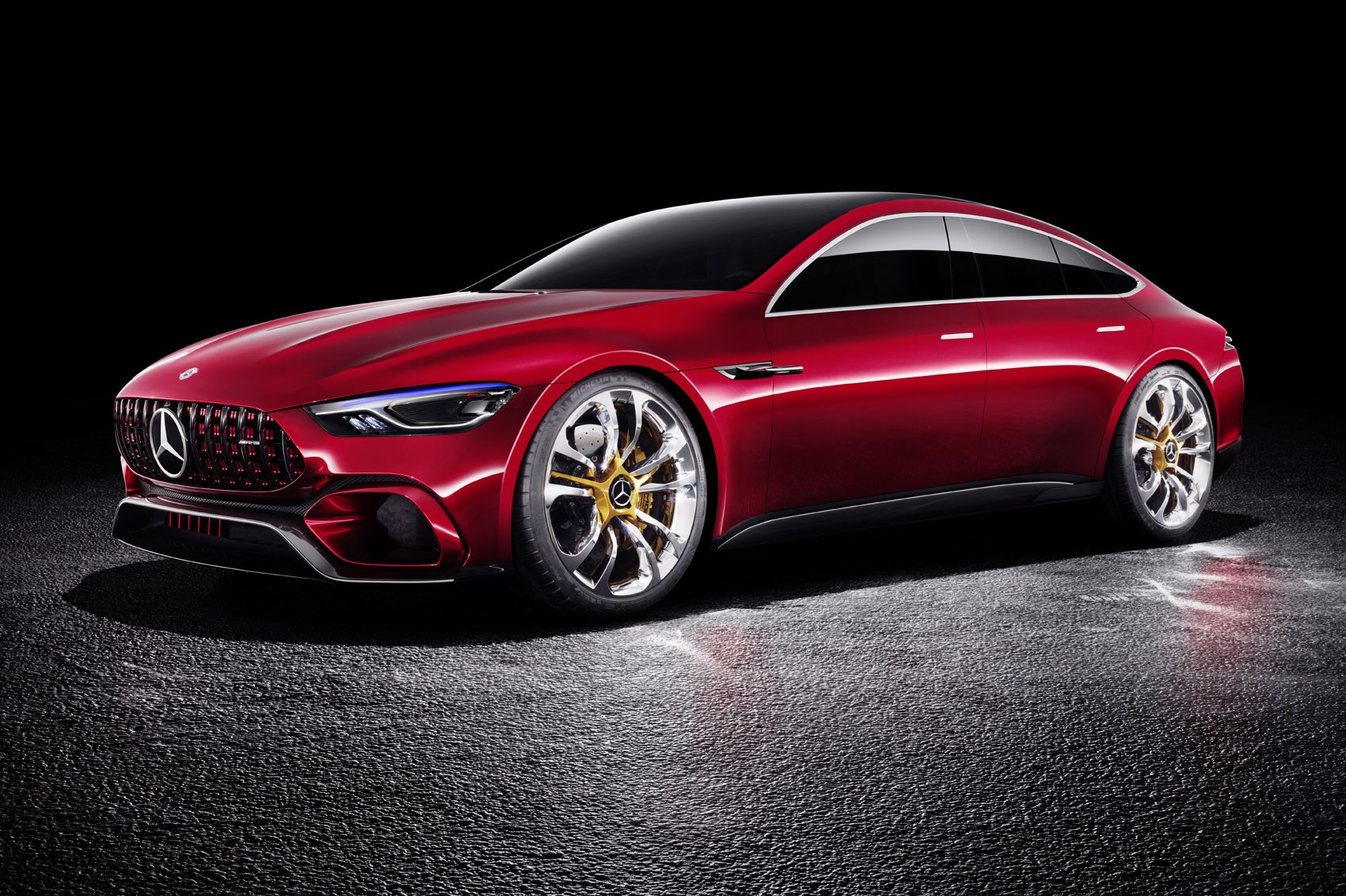 A glimpse at the new mercedes amg gt concept for New mercedes benz concept