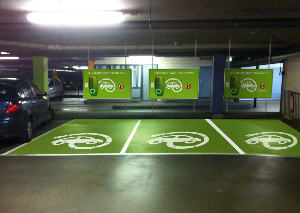 electric car parking Dubai