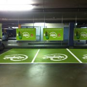 electric car parking Dubai